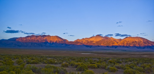 Sunset on Mt Borah and Chilly Slough © Ken Cole