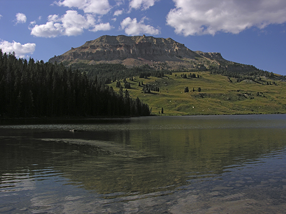 Beartooth Lake and Beartooth Butte