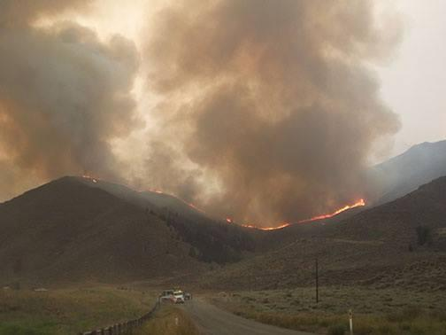 Beaver Creek Fire in Deer Creek near Clarendon Hot Springs.