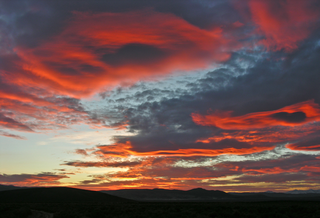 Sunset in Butte Valley. Central Nevada. Copyright Ralph Maughan