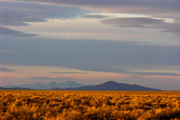 Public lands in Nevada (here in Butte Valley) are very likely to be threatened by privatization because they are not well known. Copyright Ralph Maughan
