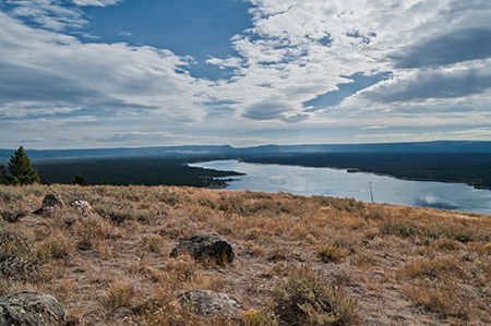 Top of Horse Butte looking eastward to Yellowstone NP. Copyright Ralph Maughan
